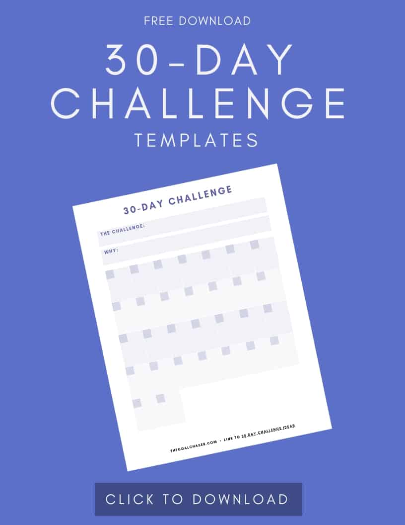 30 Day Challenge Template Download