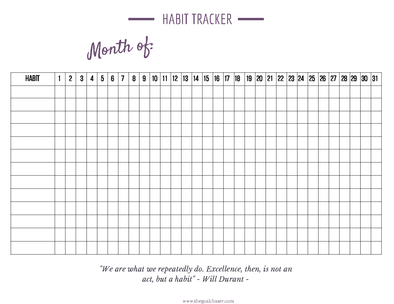 graphic relating to Habit Tracker Printable Free called How in direction of Mounted-Up A Behavior Tracker That Operates For On your own