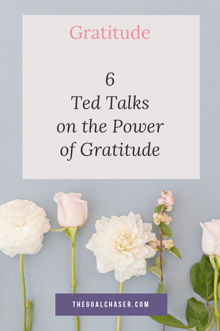 Wanting to increase your 'attitude of gratitude'? Here are 6 ted talks about gratitude that focus on how gratitude improves happiness, the importance of receiving gratitude, challenges to try and extra gratitude ideas (in addition to a gratitude journal)!