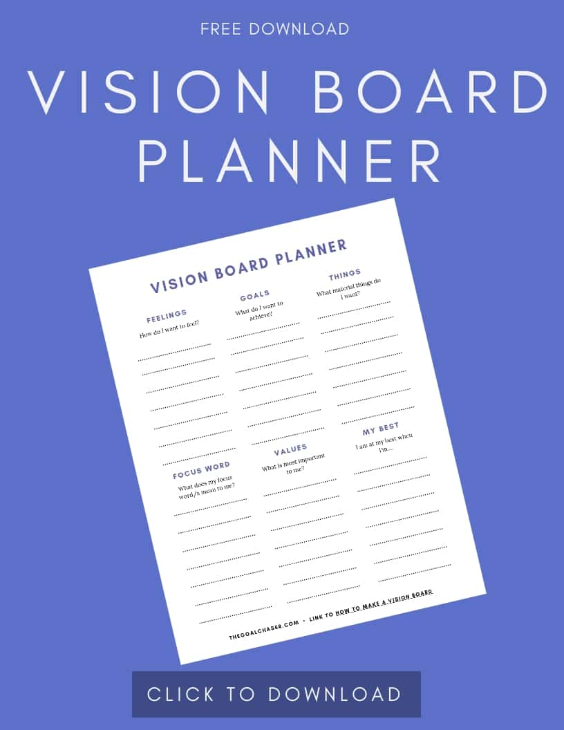 Vision Board Planner Download Template