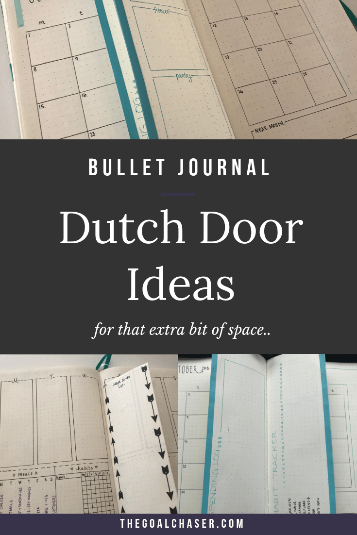 Bullet Journal Dutch Door Ideas: When I know it's going to be busy, I create a simple 'dutch door' hack of my bullet journal. It's simple and it works a treat!
