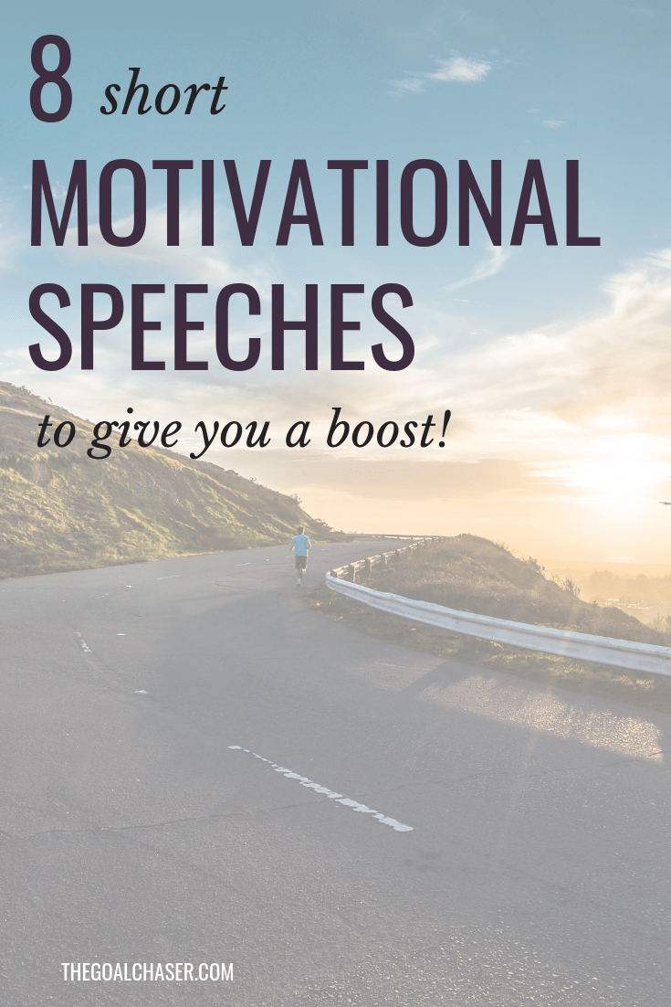 Do you love motivational speeches but sometimes don't have the time to listen to an hour-long speech? Here are 8 very short motivational speeches that inspire! All under 7 minutes long.